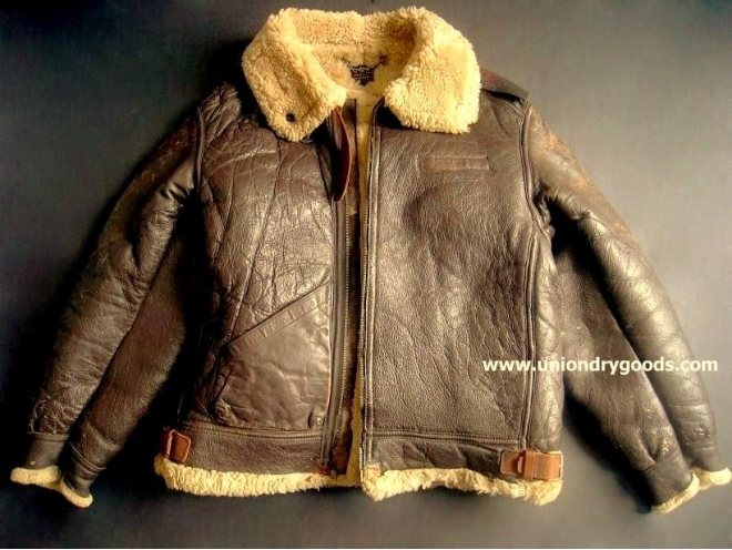 FS: Original 1940's WW2 B3 Leather Shearling Bomber Jacket by ...