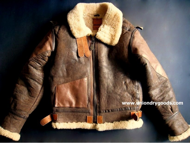 FS: Vintage 2-Tone B3 Leather Shearling Bomber Jacket by Palmus ...