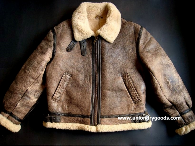 for bid in our ebay corner is a vintage b3 leather jacket leather