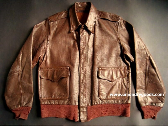 FS: Original 1940's WW2 A2 Leather Flight Jacket by J.A.Dubow ...